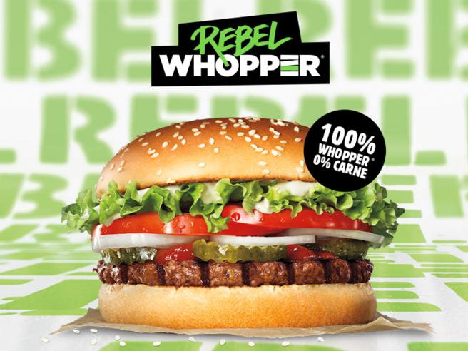 Burger King strizza occhio a vegani, hamburger senza carne in Europa
