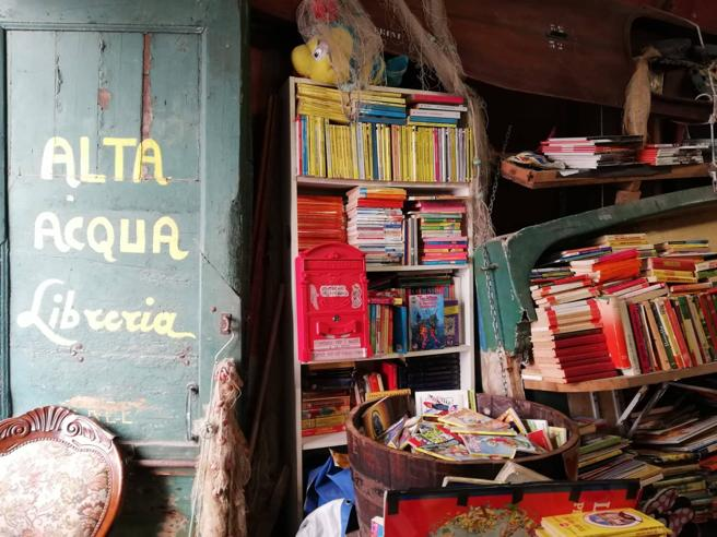 Danneggiata la libreria Acqua Alta a Venezia, vittima della marea