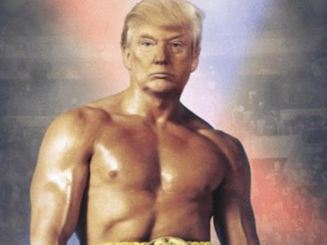 Trump twitta autoritratto in versione Rocky. Scoppia l'ironia social