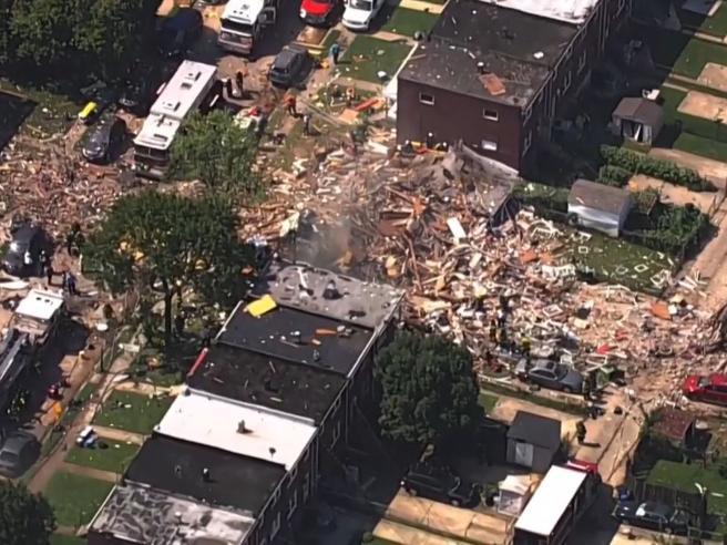Esplosione a Baltimora causa il crollo di diversi palazzi: vittime e feriti