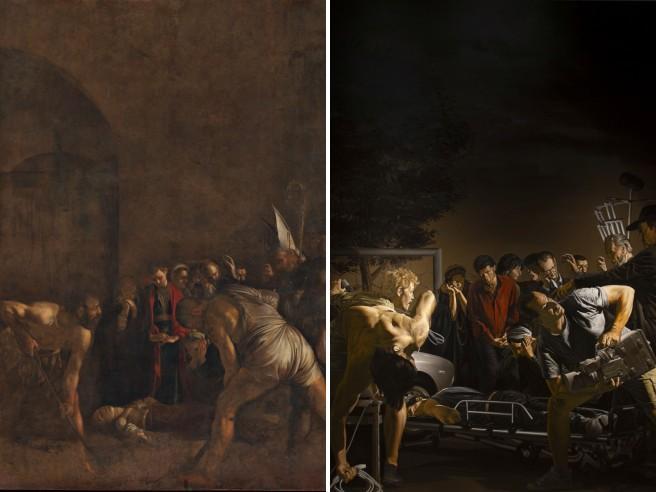 Caravaggio incontra Pasolini: i corpi della santa e del poeta