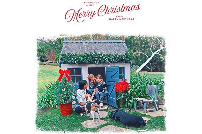 Meghan, Harry e Archie: ecco la cartolina di auguri dalla California