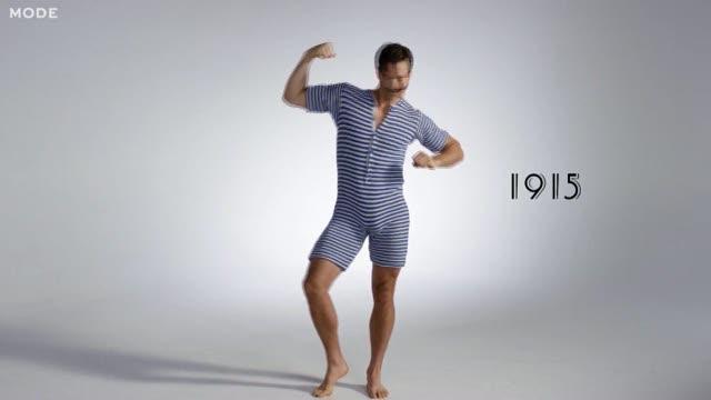 L\'evoluzione del costume maschile: 100 anni in 100 secondi - Corriere TV