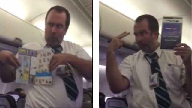L'assistente di volo più divertente del mondo