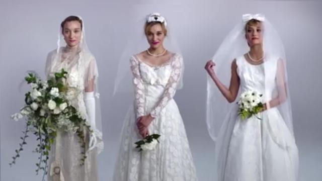 Vestiti Da Sposa Youtube.100 Anni Di Abiti Da Sposa In 3 Minuti Corriere Tv
