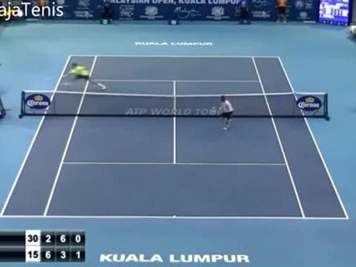 Palle corte, volée e colpi sotto le gambe. Uno scambio folle quello tra Grigor Dimitrov e Joao Sousa nel secondo turno del torneo di Kuala Lumpur. In 20 secondi succede davvero di tutto. Il video è stato caricato su YouTube da Ventaja Tenis