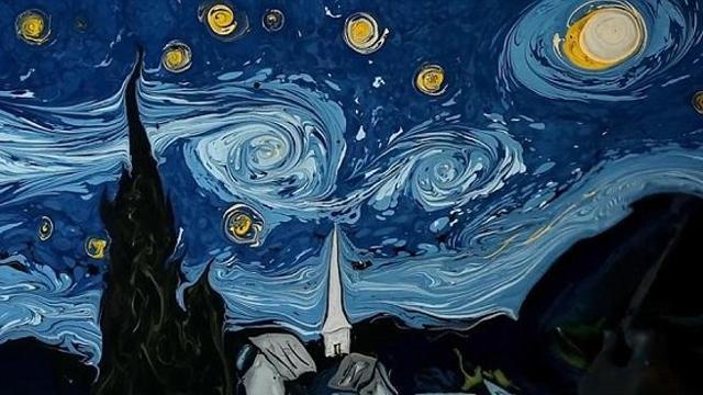 Ecco come riprodurre i dipinti di van gogh sull 39 acqua la for Quadri semplici