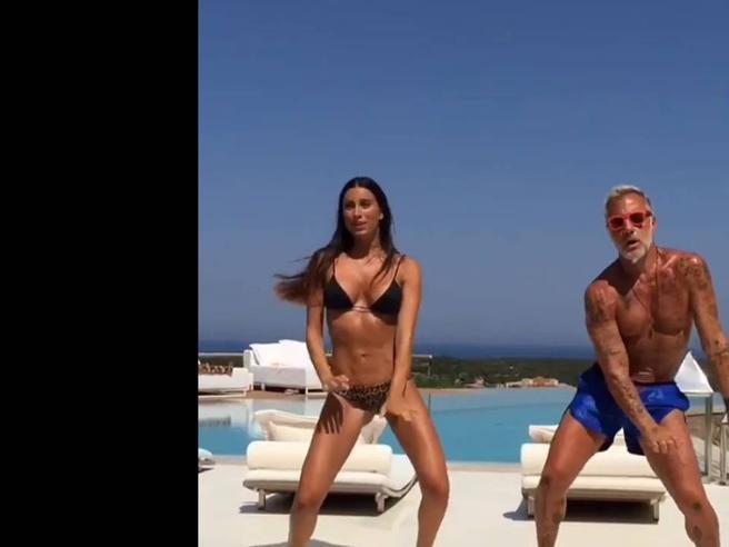 Gianluca Vacchi lasciato dalla fidanzata Giorgia Gabriele: ecco il primo ballo virale della (ex) coppia|Fotostoria