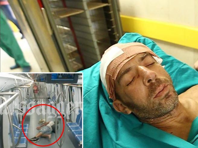 Aggressione nella metro di Roma, ecco il video del violento pestaggio