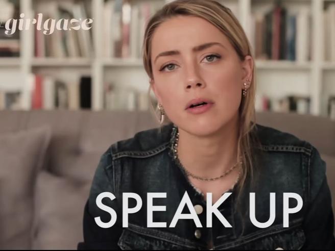 «Donne alzate la voce» Amber Heard    contro la violenza Video