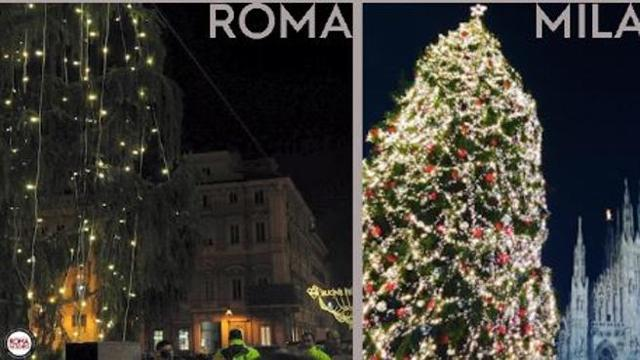 albero natale 2018 roma Roma  Milano, il confronto tra alberi di Natale è impietoso per la  albero natale 2018 roma