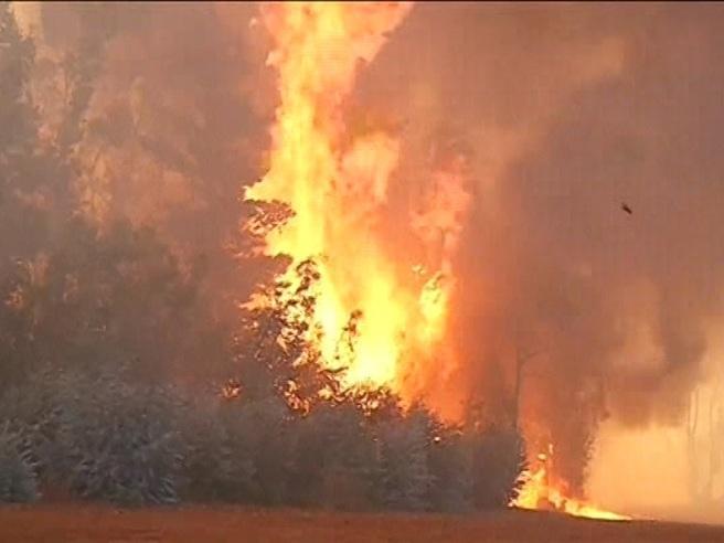 Valparaiso, fiamme altissime distruggono100 case Video