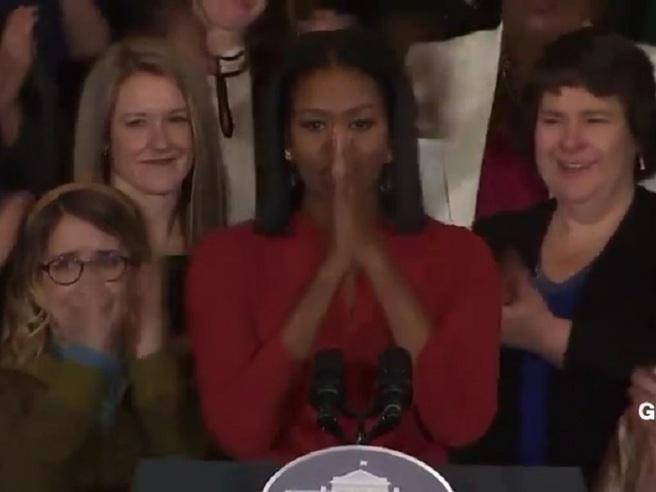 Michelle e l'ultimo discorso: «Spero siate orgogliosi di me» Video