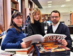Da sinistra: Ilaria Bonacossa, Angela Vettese e Alessandro Rabottini al «Corriere della Sera» (foto di Duilio Piaggesi/Fotogramma)