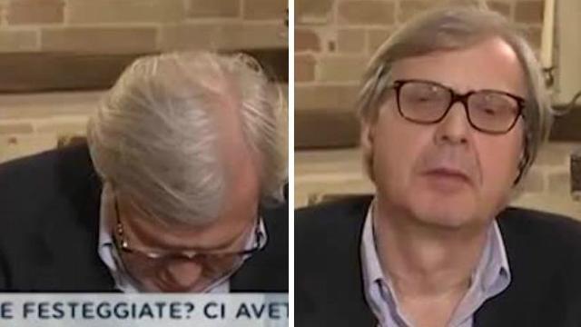Vittorio Sgarbi Si Addormenta Di Botto In Diretta Tv E Il Conduttore