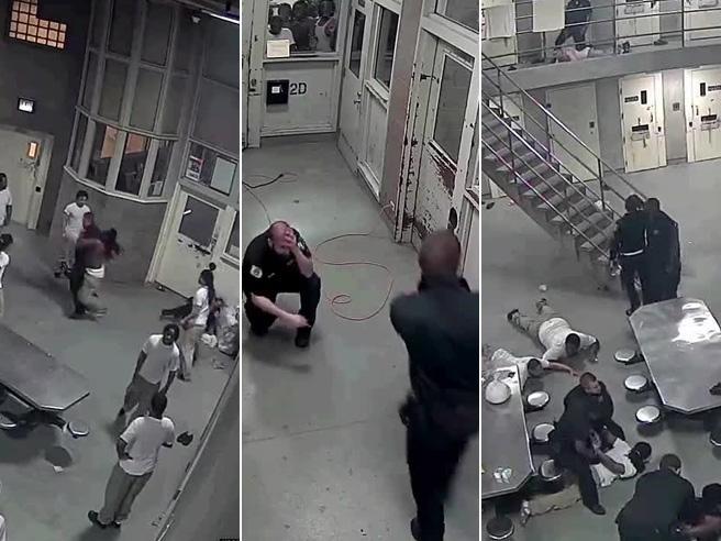 Rivolta in carcere, due agenti  pestati a sangue dai detenuti Poi però arrivano i rinforzi Video