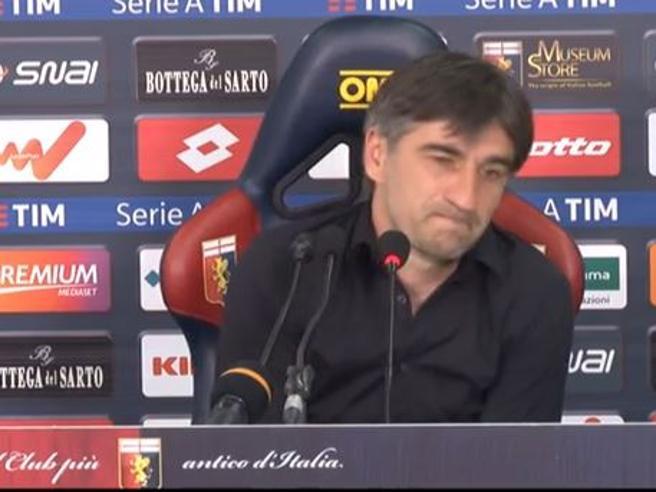 Genoa, le lacrime di Juric: «Momento difficile per la mia squadra»