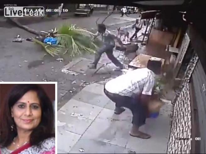 Famosa presentatrice tv indiana uccisa da una palma
