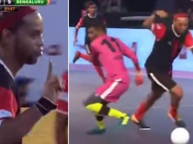 Ronaldinho star del fustal: gol, tunnel e numeri in India
