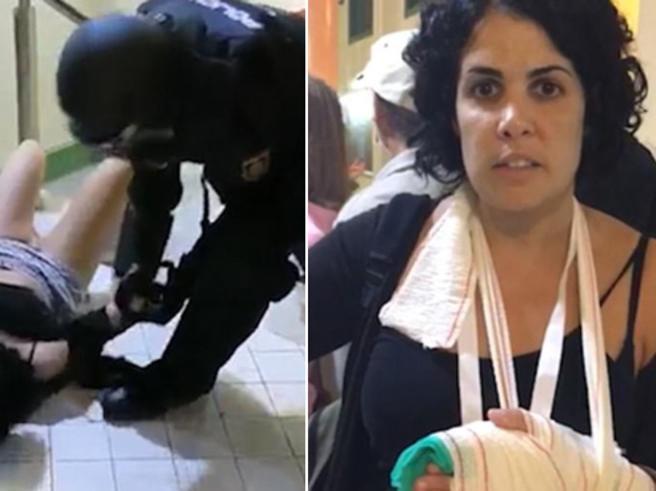 Catalogna, la denuncia di una ragazza: mi hanno spezzato le dita e toccato il seno
