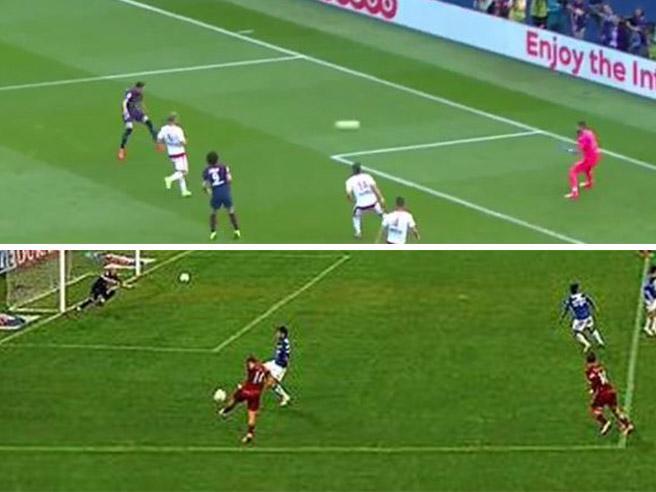 Psg, il gol alla Totti di Draxler: le due reti a confronto