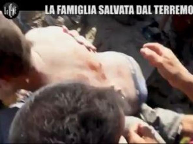 Terremoto Ischia, il video mai visto  del  salvataggio  dei tre fratellini