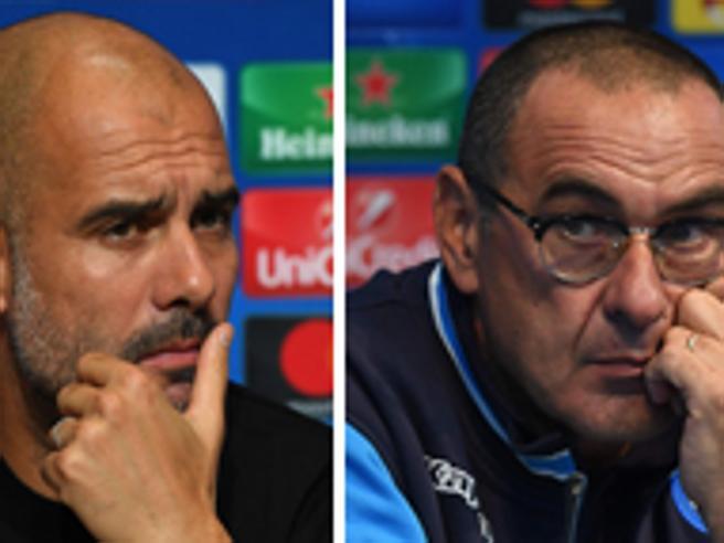 Champions League, Napoli. Sarri straccia la poesia di Guardiola: «Voglio palleggiare in faccia al City»
