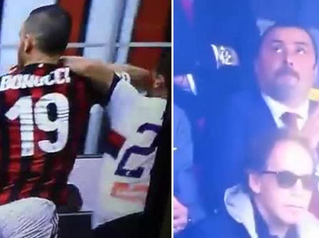 Milan-Genoa, Bonucci espulso per una gomitata a Rosi