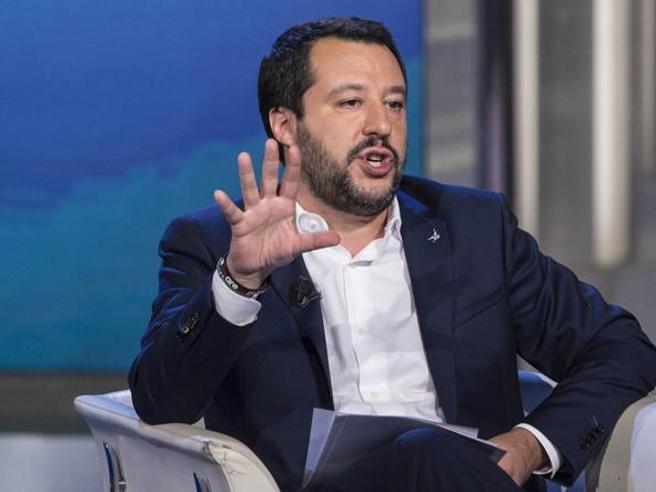 Il leader della Lega  Salvini parla in diretta a #Corrierelive