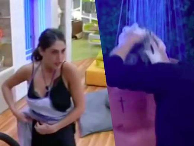 Moser che si fa lavare i capelli da Ivana e Cecilia lo minaccia: «Stasera dormi da solo»