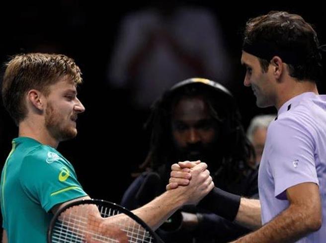 Tennis: il gigante Federer battuto dall'elfo David Goffin. Ecco il punto decisivo