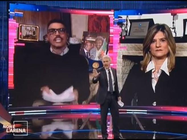 Giletti sbotta, battibecco con Domenico Spada: «Minacciare i bambini è una cosa schifosa»