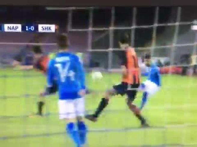 Napoli-Shaktar, ecco il super gol di Insigne