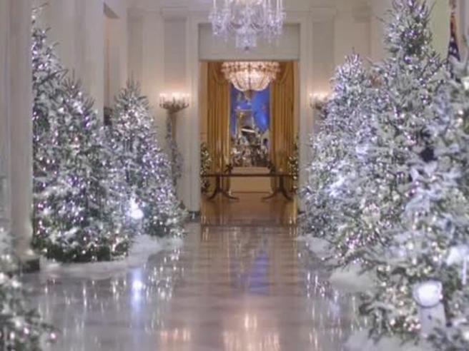 Il Natale alla Casa Bianca, Melania Trump presenta gli addobbi
