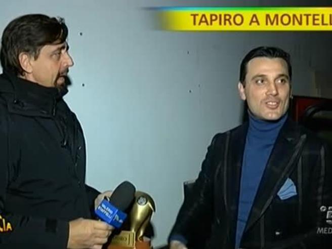 Il tapiro d'oro a Montella: «L'esonero? Una bella tramvata»
