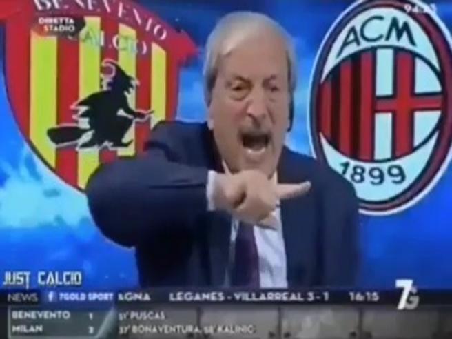 Milan, Crudeli furioso dopo il gol  del portiere del Benevento Brignoli: «Andate a casa»
