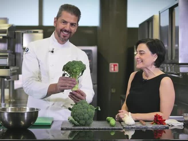 Il broccolo di Natale dello chef Andrea Berton