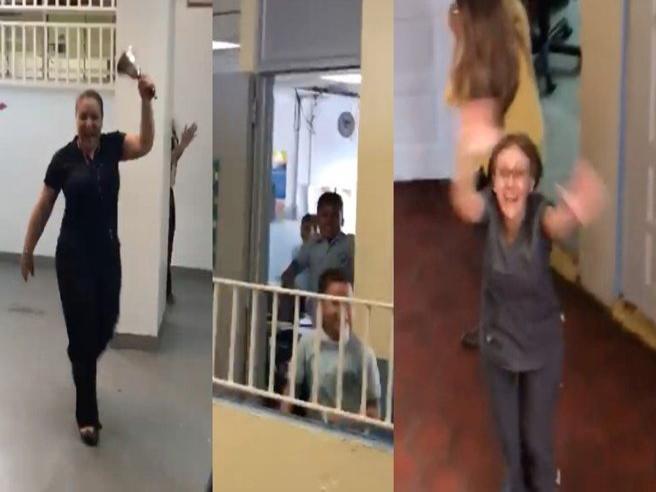 ecco come reagiscono gli studenti portoricani quando torna l'elettricità nella loro scuola