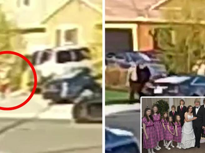Finalmente liberi i 13 figli segregati dai genitori corrono all'auto della polizia