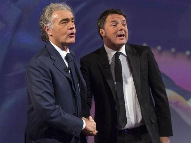 Matteo Renzi intervistato da Massimo Giletti  a «Nonè l'Ar