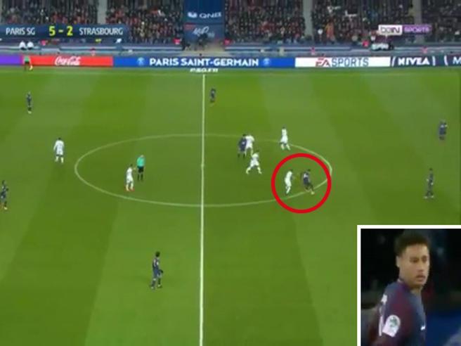 Francia, la giocata assurda di Neymar lascia di stucco il difensore
