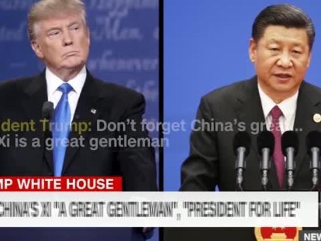 Trump: «Xi, presidente a vita in Cina? Dovremmo farlo anche noi»