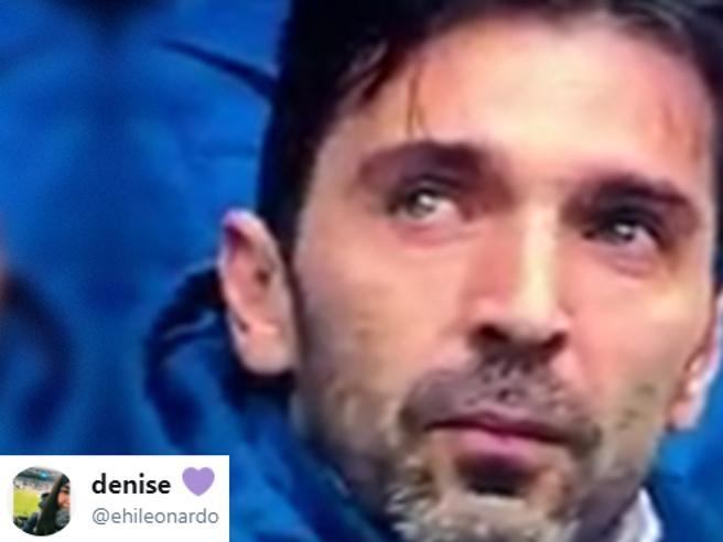 Buffon piange Astori, la tifosa della Juve: «Lacrime di un grande capitano per un grande capitano»