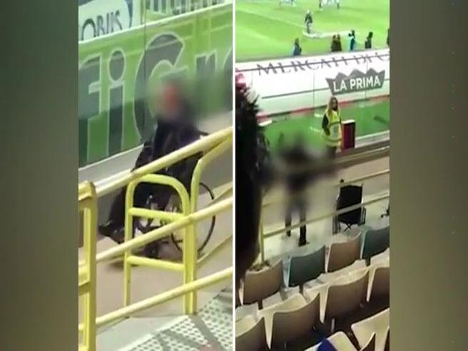 Foggia, entra allo stadio in carrozzina poi si alza e va a sedersi in tribuna. I tifosi: «Miracolo»
