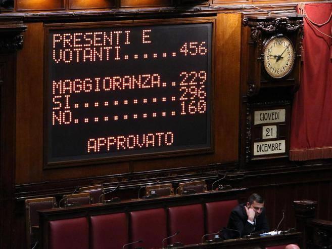 Manovra via libera della camera oggi l esame al senato for Leggi approvate oggi al senato