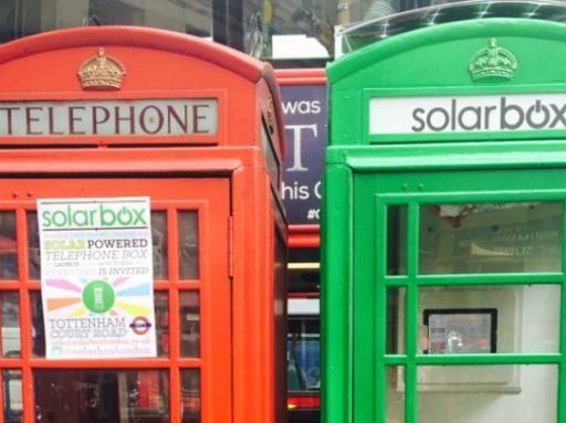 Londra con solarbox le cabine del telefono diventano for Cabine in montagne verdi del vermont