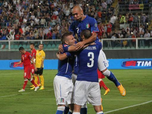 Italia-Azerbaigian 2-1. Fa tutto Chiellini: due reti e un autogol