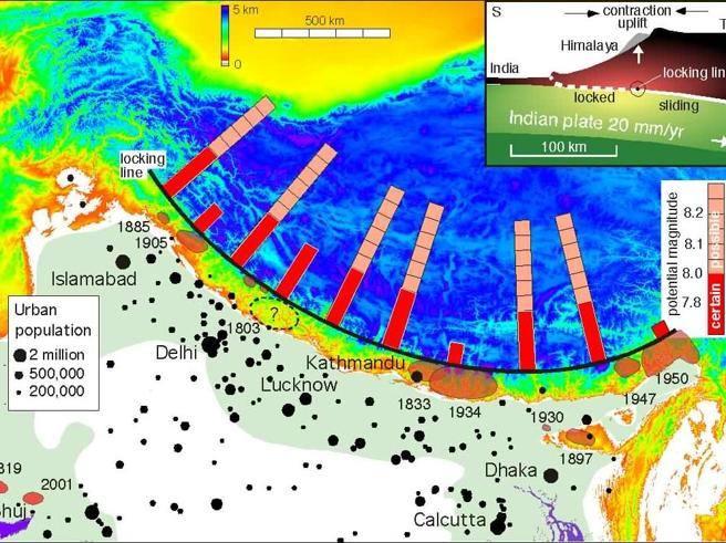 Terremoto Nepal: quei 5 centimetri e la faglia di 140 km. Scontro titanico