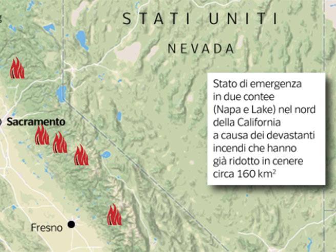 La california devastata dagli incendi ecco la mappa corriere thecheapjerseys Choice Image
