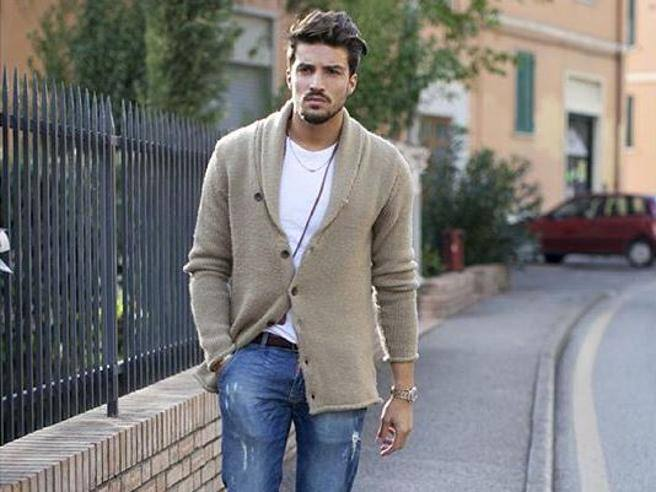 giacca e maglietta jeans uomo